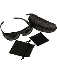 Gafas de Sol Polarizadas Para usar Sobre Gafas - Cubren las Gafas Normales y de Lectura para Reducir el Deslumbramiento - Ligeras - Cómodas -Talla Adultos Hombres y Mujeres - Excelentes para Montar Bicicleta y Conducir