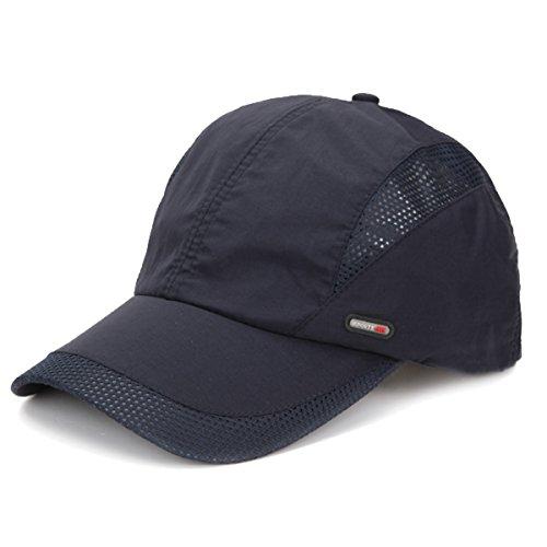 Sport Running Baseballcap Golf Outdoor Mesh Kappe Mütze Jogging Fitness Cap Laufkappe Schirmmütze Basecap atmungsaktiv verstellbar (Navy)