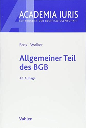 Allgemeiner Teil des BGB (Academia Iuris)