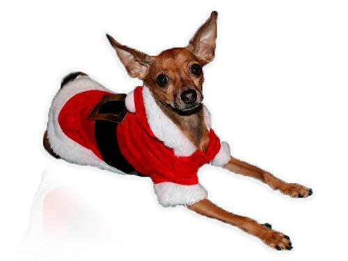 Grivey Cappottino per Cani di Natale Vestito Super Morbido Bambola Costume con Cappuccio Cani e Gatti Vestito Pullover Costume Babbo Natale/Babbo Natale Pet Cat Clothes
