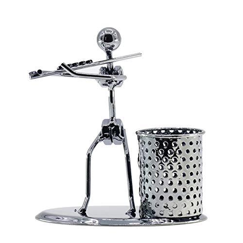 Hardworking bee Musik Iron Man Modell Band/Musikinstrument Büro Stifthalter/Persönlichkeit Kreative Dekoration Geschenk Interessant (Farbe : Chrome) -
