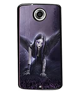 Fuson 2D Printed Girly Designer back case cover for Motorola Nexus 6 - D4152