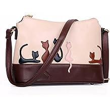 eceba9a912 Longra Le donne del gatto coniglio in pelle a tracolla della borsa della  borsa di Crossbody