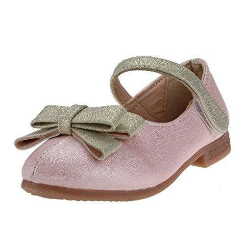 maxu filles mignon Mary Jane Chaussures École Nœud Plat Rose