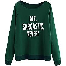 Darringls Remera Mujer,Camisetas Cosiendo Elegantes Blusa Bolsillo con Capucha