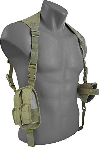 Schulterholster Pistolenholster mit Magazintaschen Cordura Olive