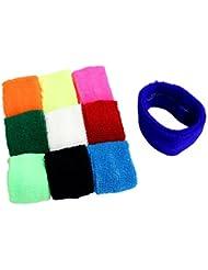 KurtzyTM Lot de 10 Bandeaux Anti-Transpirants en Coton Élastique de Couleur pour Sports et Fitness