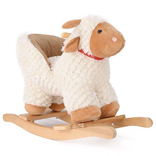 Lamb Rocking Horse Plush Animal Rocker With Seat
