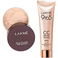 Lakmé Rose Face Powder, Soft Pink, 40g And Lakmé Complexion Care Face Cream, Bronze, 9g