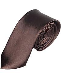 Ularma Moda Sólido Mens de llano delgado casual cuello flaco fiesta boda lazo corbata