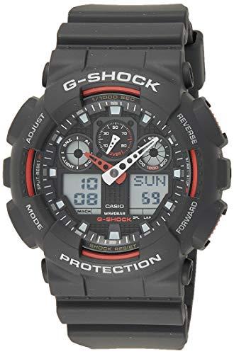 Casio G-SHOCK Reloj Analógico-Digital, 20 BAR, Negro, para Hombre, GA-100-1A4ER