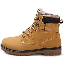 VICGREY ❤ Stivali Invernali Uomo Stivaletti Neve Pelle Impermeabile Scarpe  Pelliccia Caldo Stringate Caviglia Boots Uomo dc403ab88d1