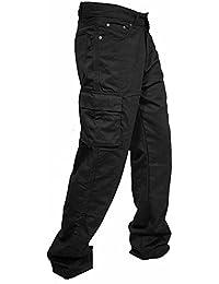 newfacelook Men Work Trousers Combat Cargo Working Pants Heavy Duty Multi Pockets Worker Trouser