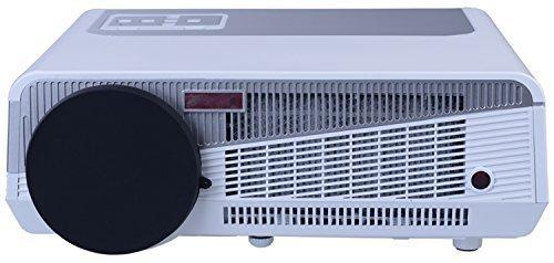 Dayiss® HD LED-Projektor Beamer Heimkino Multimedia (1280x800 Pixel, Kontrast:8000:1,6000 Lumen, HDMI) (6000 Lumen-led-projektor)