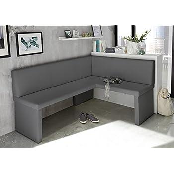 eckbank olga grau k chenbank sitzecke dick gepolstert. Black Bedroom Furniture Sets. Home Design Ideas