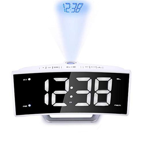Despertador digital Relojes de alarma de la proyección del reloj ...