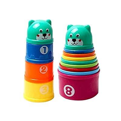 Ogquaton Tasse empilée pour bébés de qualité supérieure créative forme d'ours créatif bébé Puzzle d'apprentissage précoce Jouets 1 sac