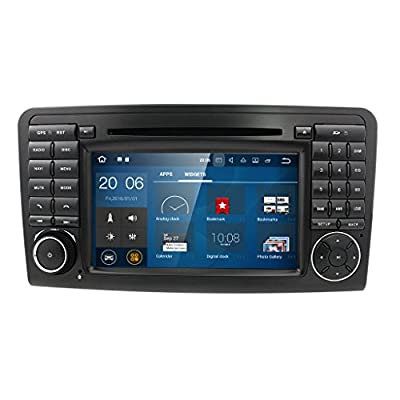 Android 7.1 Quad Core CD DVD GPS Autoradio Dab+ WiFi Mirrorlink Navigation Für Mercedes Benz ML/GL-Klasse W164 X164 ML300/ML350/ML450/ML500 GL320/GL350/GL420/GL450/GL500 SEBMJ par JBY TECH