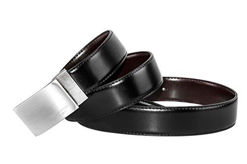 Cintura uomo CALVIN KLEIN classica 116 cm in pelle double face nera moro R5875