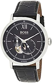 hugo boss Signature Collection Men's Black Dial Leather Band Watch - 151