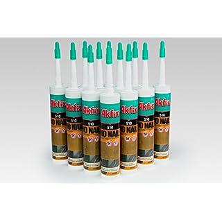 12 Cartridges PU Mounting Adhesive PU Basis Tall Adhesion frost-resistant Akfix 510