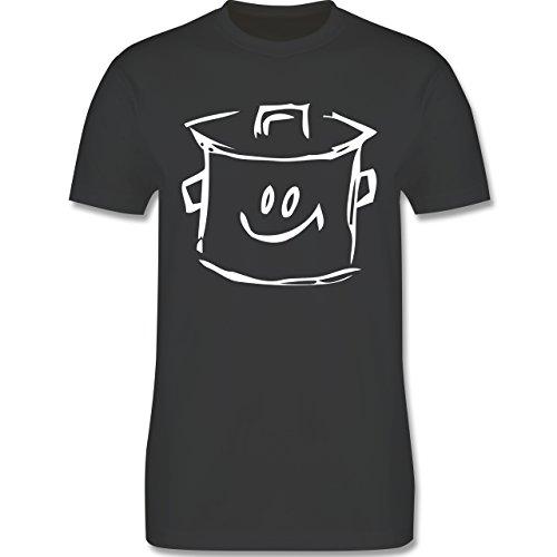 Küche - Kochtopf - Herren Premium T-Shirt Dunkelgrau