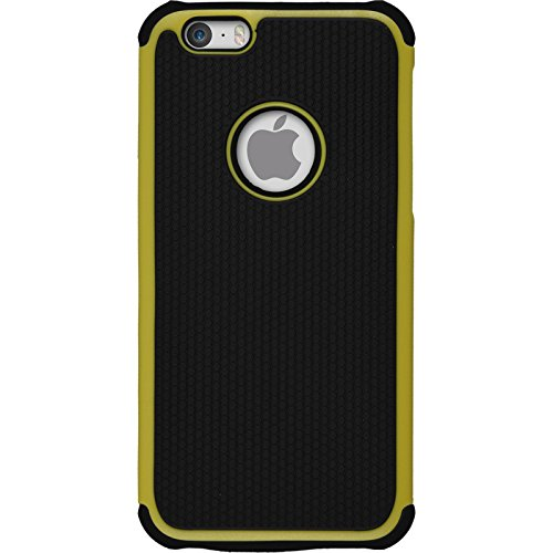 Hybridhülle für Apple iPhone 6s / 6 - ShockProof Hexagon gelb - Cover PhoneNatic Schutzhülle Case Gelb