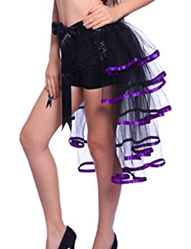 Falda Tul Mujer Malla Faldas Cintura Alta Bandage Asimetricas Irregular Volantes Moda Dance Fiestas Tutu Minifalda
