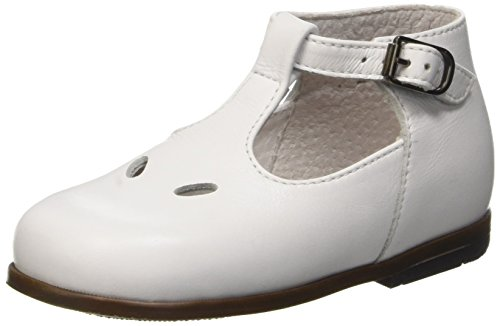 Little Mary Max, Chaussures Premiers pas bébé garçon Blanc (Vachette Blanche)
