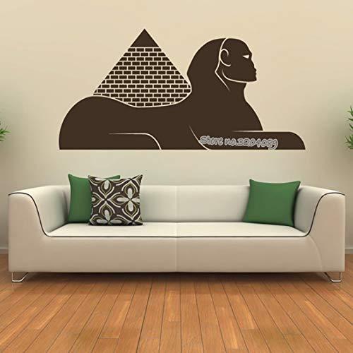 Wahrzeichen Ägyptische Sphinx Wandaufkleber Alte geheimnisvolle Pyramide Ägypten Wandtattoo Für Kinderzimmer wohnzimmer kunst Home Decor 86X42CM -