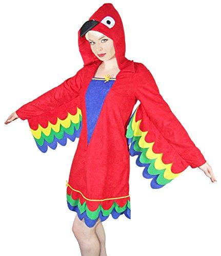 (Bunter Papagei Kostüm für Damen Gr. 36 38)