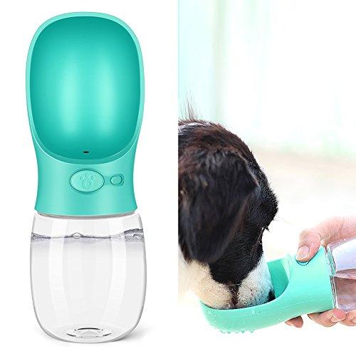 SZRWD Haustier Flasche, Wasserflasche Hund Wasserspender Antibakterielle Tragbare mit Abnehmbarer Tasse Portable Auslaufsicherer Wasserkocher für Ihre schönen Katzen, Hunde im Freien mit(Blau)