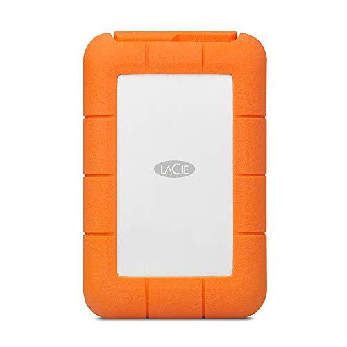 LaCie Rugged Raid Pro, 4 TB, tragbare externe Festplatte für Mac, 2.5 Zoll, Raid, USB-C, Card Reader, Mac, PC