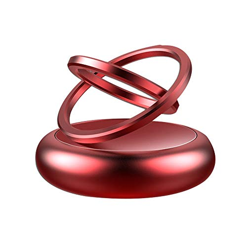 L.L.QYL Aromaterapia Car Diffusore di aromaterapia for Auto Rotante a Doppio Anello Deodorante for Auto Accessori for Interni for Auto for Ufficio a casa (Color : Rosso, Size : Gratuito)