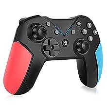 OCDAY Nintendo Switch Controller Wireless Controller für Nintendo Switch, Bluetooth Nintendo Switch Pro Controller, Pro Remote Game Switch Gamepad mit Einstellbarer Turbo Dual Shock Gyro-Achse