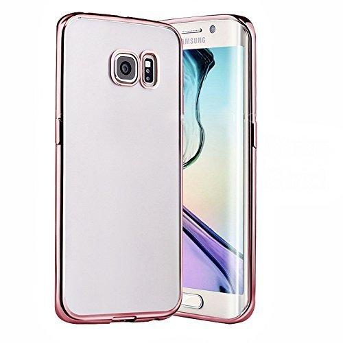 Connect Zone® Samsung Galaxy S8 Plus [Tomber Protection] [Métal Galvanoplastie Technologie] Doux Flexible TPU Silicone Gel Housse de Protection + Protection D'Écran et Chiffon de Polissage