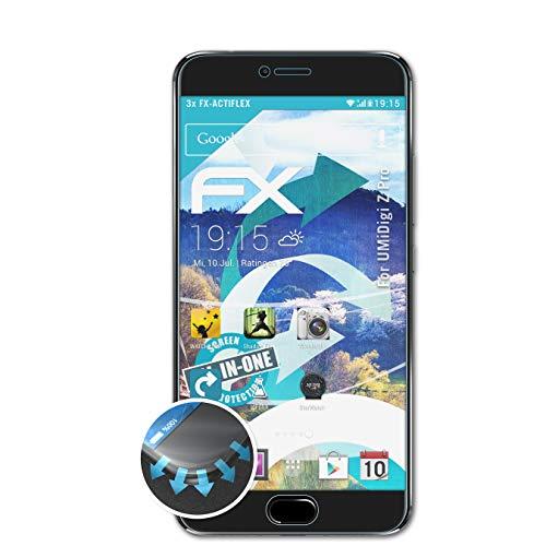 atFolix Schutzfolie passend für UMiDigi Z Pro Folie, ultraklare & Flexible FX Bildschirmschutzfolie (3X)