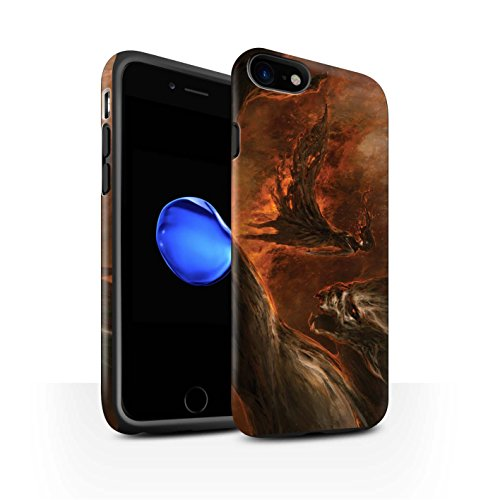 Offiziell Chris Cold Hülle / Matte Harten Stoßfest Case für Apple iPhone 7 / Rot Herzog Muster / Dunkle Kunst Dämon Kollektion Der Anrufer