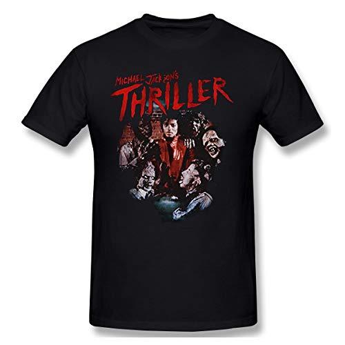 DeyAope Michael Jackson-Thriller Ghouls Herren Klassisch T Shirt Black XL