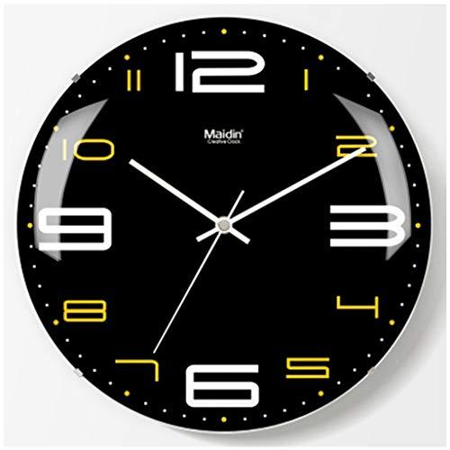 Wall clocks Wanduhr Nach Hause Große Wanddiagramme Wohnzimmer Randlose Oberfläche Stille Uhren Einfache Elektronische Quarz Uhr Flut (Color : 1) -