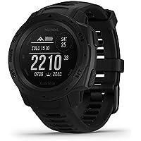Garmin Instinct Tactical Black Sportwatch Ruged GPS con Funzioni Tattiche e Stealth, Schermo Alto Contrasto, Cardio al Polso, Profili Sport e Funzioni Smart, Nero
