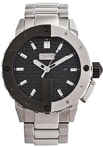 Jean Paul Gaultier 8500106 - Reloj de pulsera para hombre, negro/plata