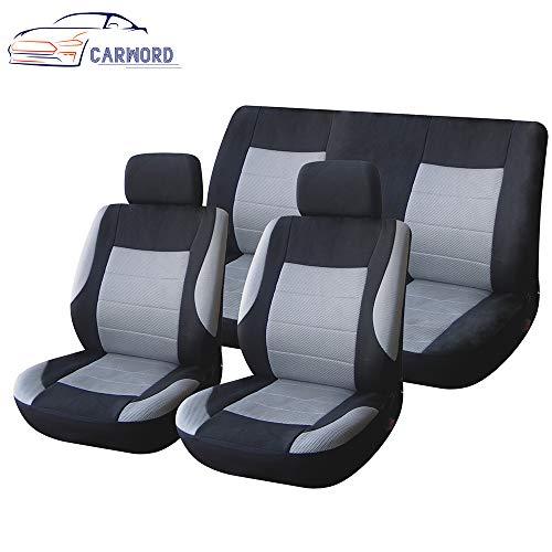 feste und atmungsaktive Universal wasserabweisende Abdeckungen Volle 6 Satz waschbarer Airbag Kompatibel für die meisten Autos, SUV, Van ()
