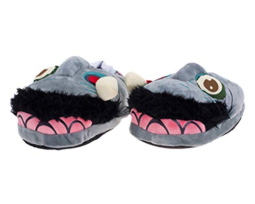 Novedad Zombie Zapatillas De Animales Pantufla De Navidad Gracioso Calienta Comodidad Peluche Suave Pantuflas Gris Verde 34/42 EU