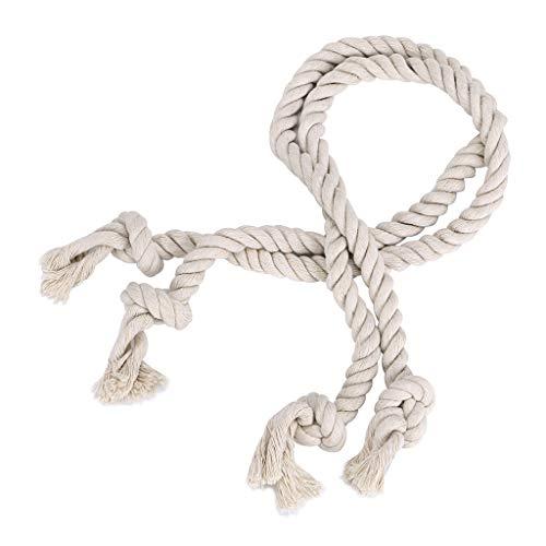 BTSKY - 2 pares de abrazaderas para cortinas tejidas a mano, cuerda...