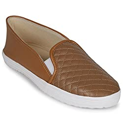 Scantia Stylish & Comfortable Casual Slip-On Shoes For women ( Colour : Brown )