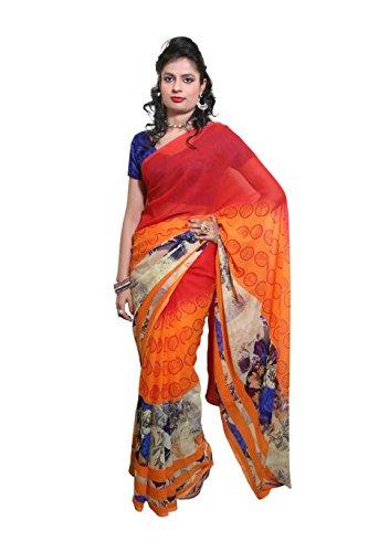 Griiham Multicolor Georgette Daily wear Sarees /Sari 11