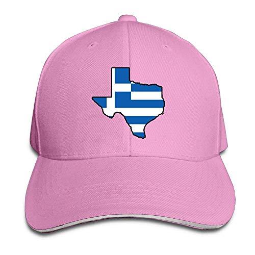 VTXINS Women's/Men's Greece Flag Texas Map Adult Adjustable Snapback Hats Peaked Cap