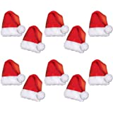 57df11c9ee2d0 Brown Leaf Christmas Party Supply Accessories Santa Hats-Pack of 10