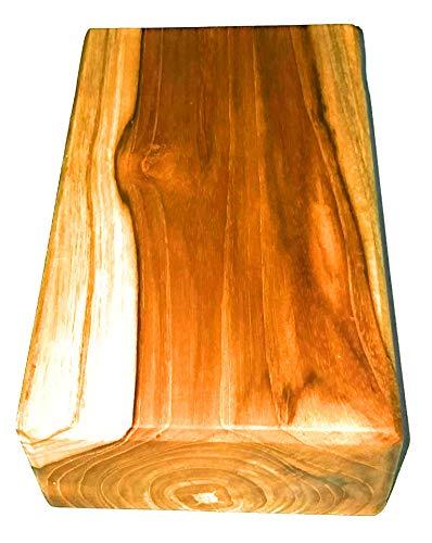 Yoga-Block aus Teakholz, natürliches Teakholz, Yoga-Block/Handständer, solides Stück (nicht hohl), extra langlebig, 100 % umweltfreundlich, aus umweltfreundlichen und nachhaltigen Teakplantagen - Natürliche Blöcke